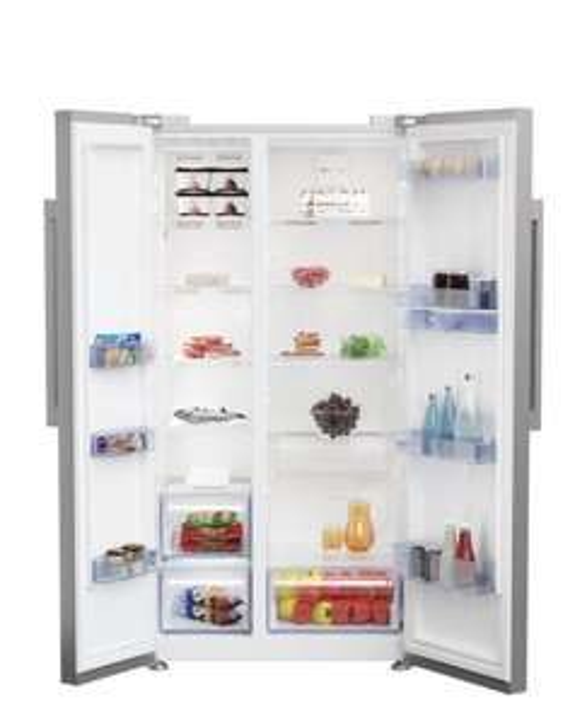BEKO Kühlschrank GN163822S A+ Side-by-Side Kombination, 91cm breit, 558L, Wasserspender, LED, silber