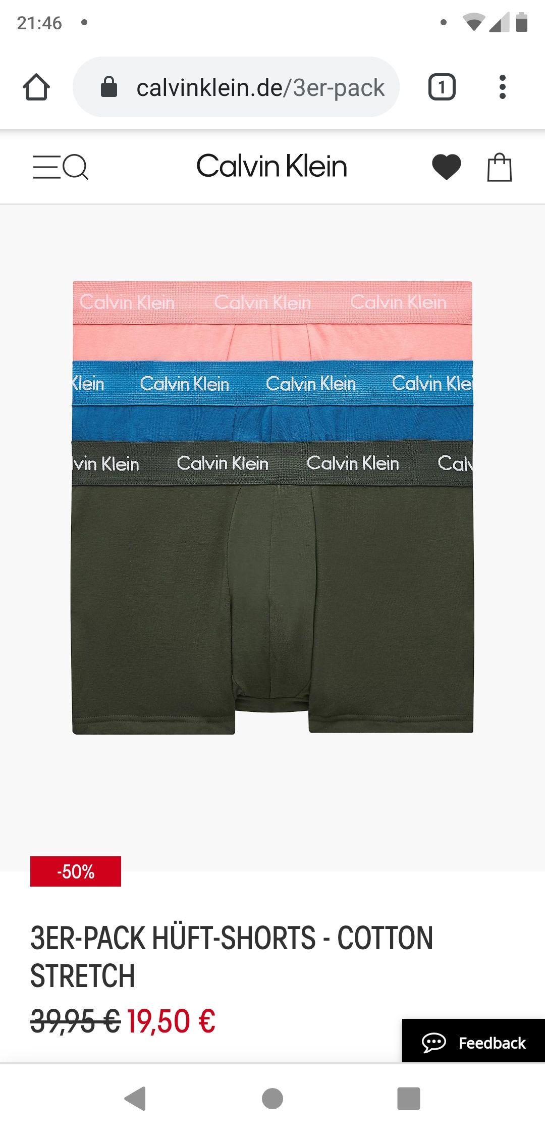 Calvin Klein 3 Hüft-Shorts XS und S