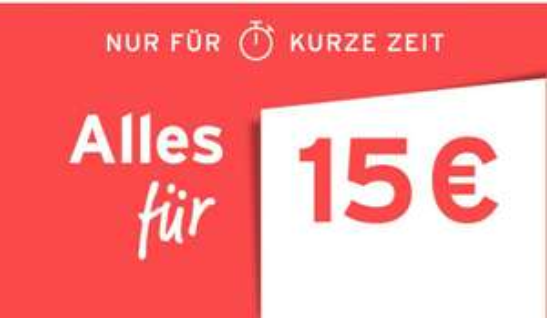 [TCHIBO] Preislagen WSV Aktion - über 300 Artikel für 15€ oder 10€