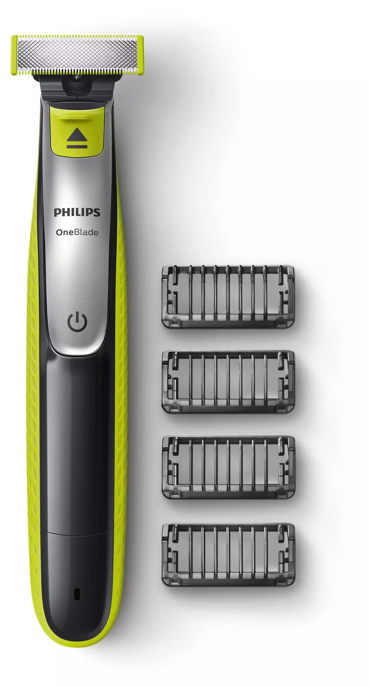 Philips OneBlade QP2530/20 Rasierer mit 4 Aufsätzen