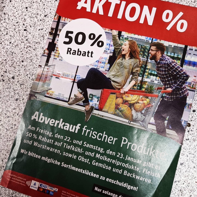 [Lokal Mudersbach b. Siegen] Rewe 50% auf alle Frischeartikel wegen Umbau