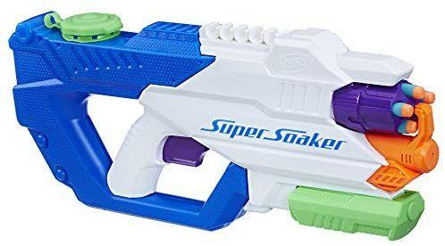 [Amazon Prime] Hasbro B8246EU6 - Nerf Super Soaker DartFire Wasserspritzpistole, 1,1 Liter Tank, Trommelmagazin mit 5 Elite Darts