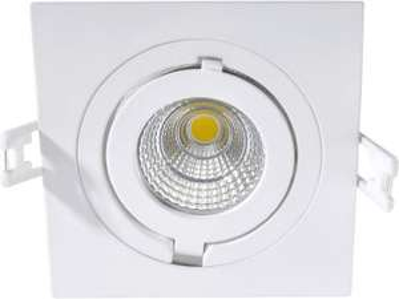 2 x Eco Light Como LED-Einbauleuchte ( Aluminium, 500 lm, 6W, IP 20, weiß [Energieklasse A+] )