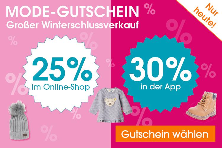 25% Rabatt (bzw. 30% Rabatt in der App) auf Mode bei Babymarkt: z.B.