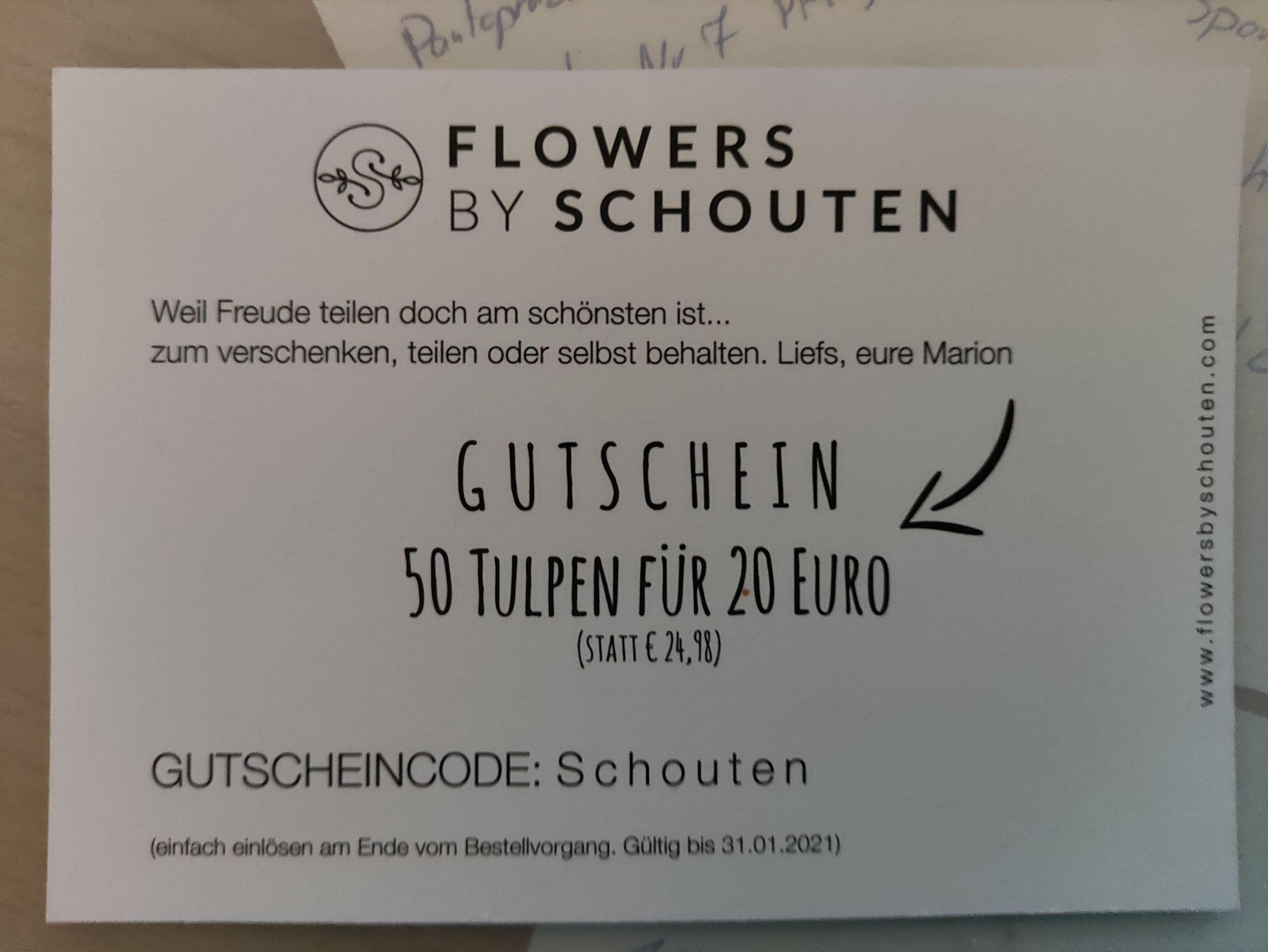 50 Tulpen für 20 anstatt 24.98