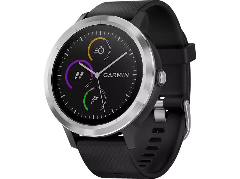 GARMIN vívoactive 3 GPS Smartwatch Silikon (127-204 mm, NFC, ANT+, Bluetooth Smart) Schwarz/Silber