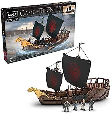 [Amazon-Sammeldeal] Mega Construx GPB29 - Probuilder Game of Thrones Targaryen Kriegsschiff, Bauset mit 723 Teilen inkl. 4 Actionfiguren