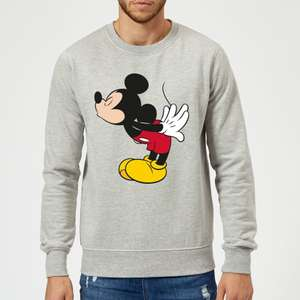 Disney Mickey Mouse Mickey Split Kiss Pullover - Grau