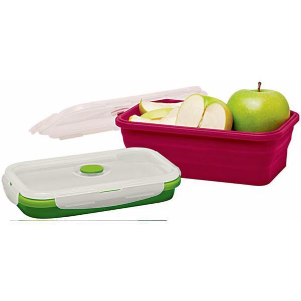 IDEENWELT: 10er Set Silikon Frischhaltedosen, Lunch Bento Box – BPA-frei, 5 x rot 1200 ml + 5x grün, 800 ml