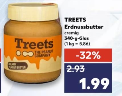 [Kaufland ab 28.01] Treets Erdnusbutter 340g für 1,99€ / Snyder´s Pretzel Pieces für 1,29€/ Chio Pocorn /Chips/Dip je 0,99€