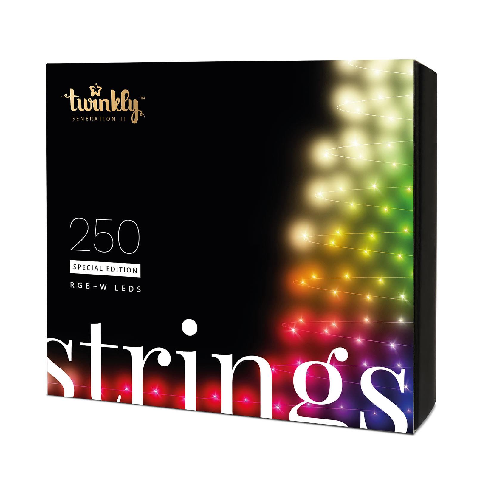 Twinkly RGB-W, 250-fl. Lichterkette / Weihnachtsbaumkette