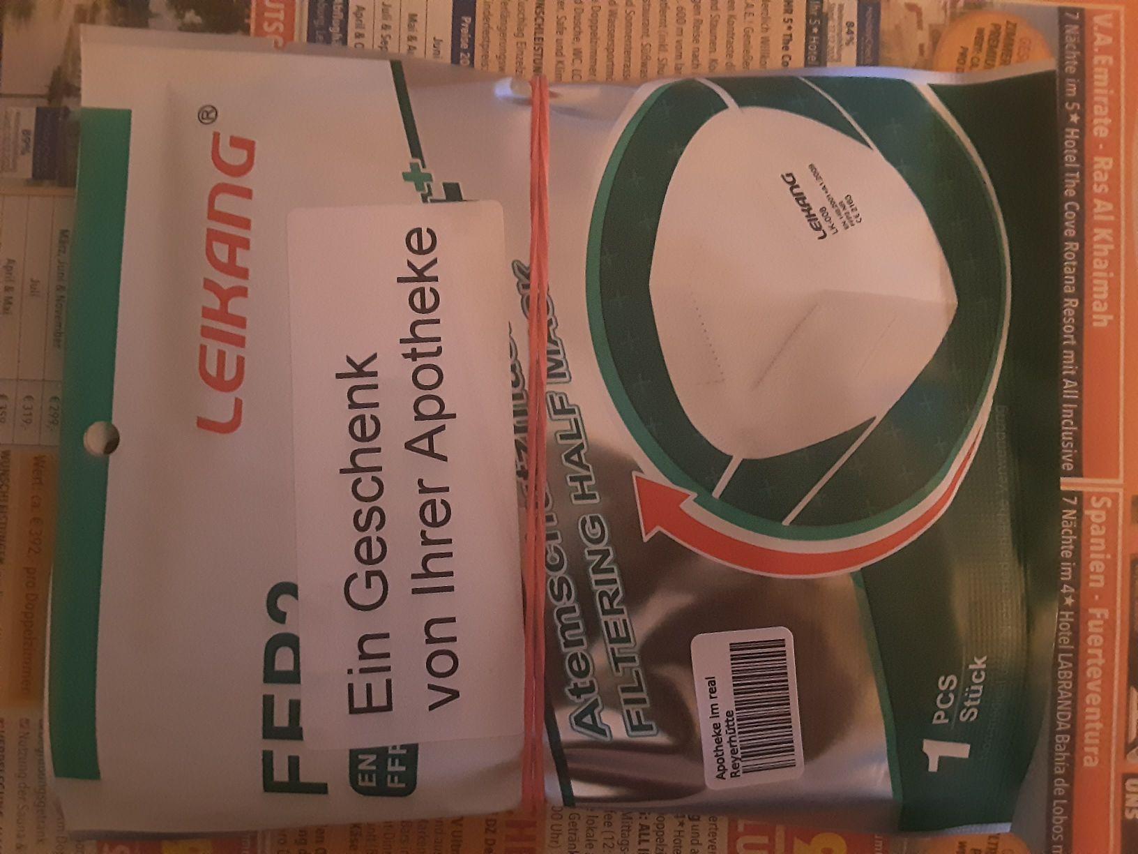 3 kostenlose FFP2 Masken beim einlösen der Gutscheine bei DocMorris (Lokal Mönchengladbach?)
