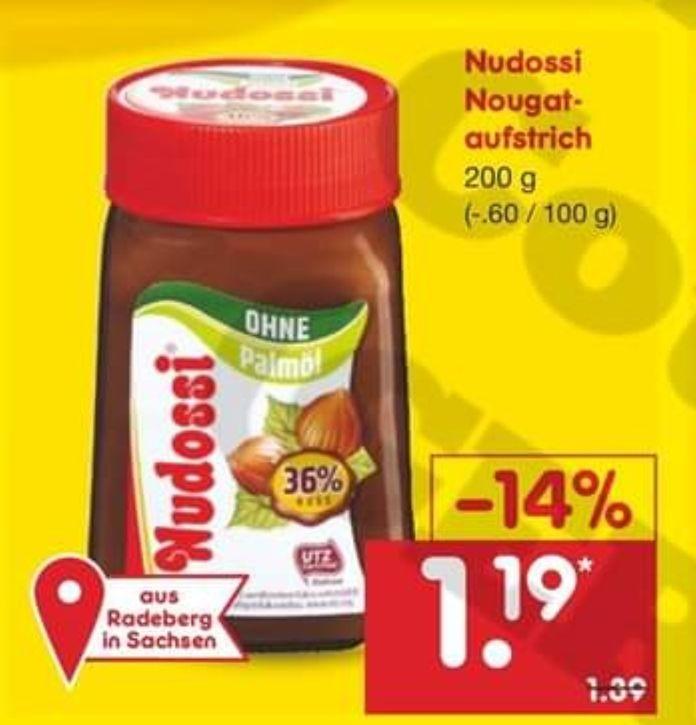 [Netto MD] [lokal?] Nudossi 200g für 1,19€
