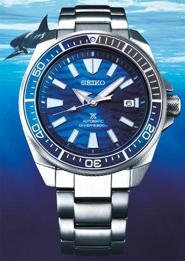 "Seiko Prospex Samurai Save The Ocean ""Great White Shark"" Diver Automatikuhr"