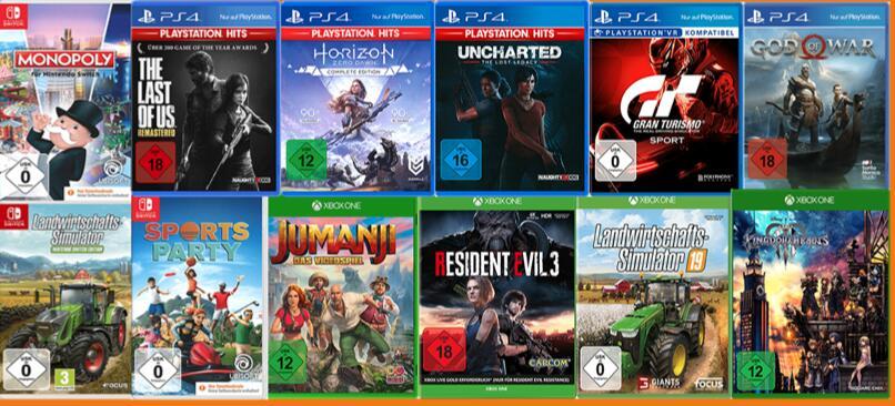 [Media Markt / Saturn] 3-für-2 Aktion auf ausgewählte PS4, Xbox und Switch Spiele