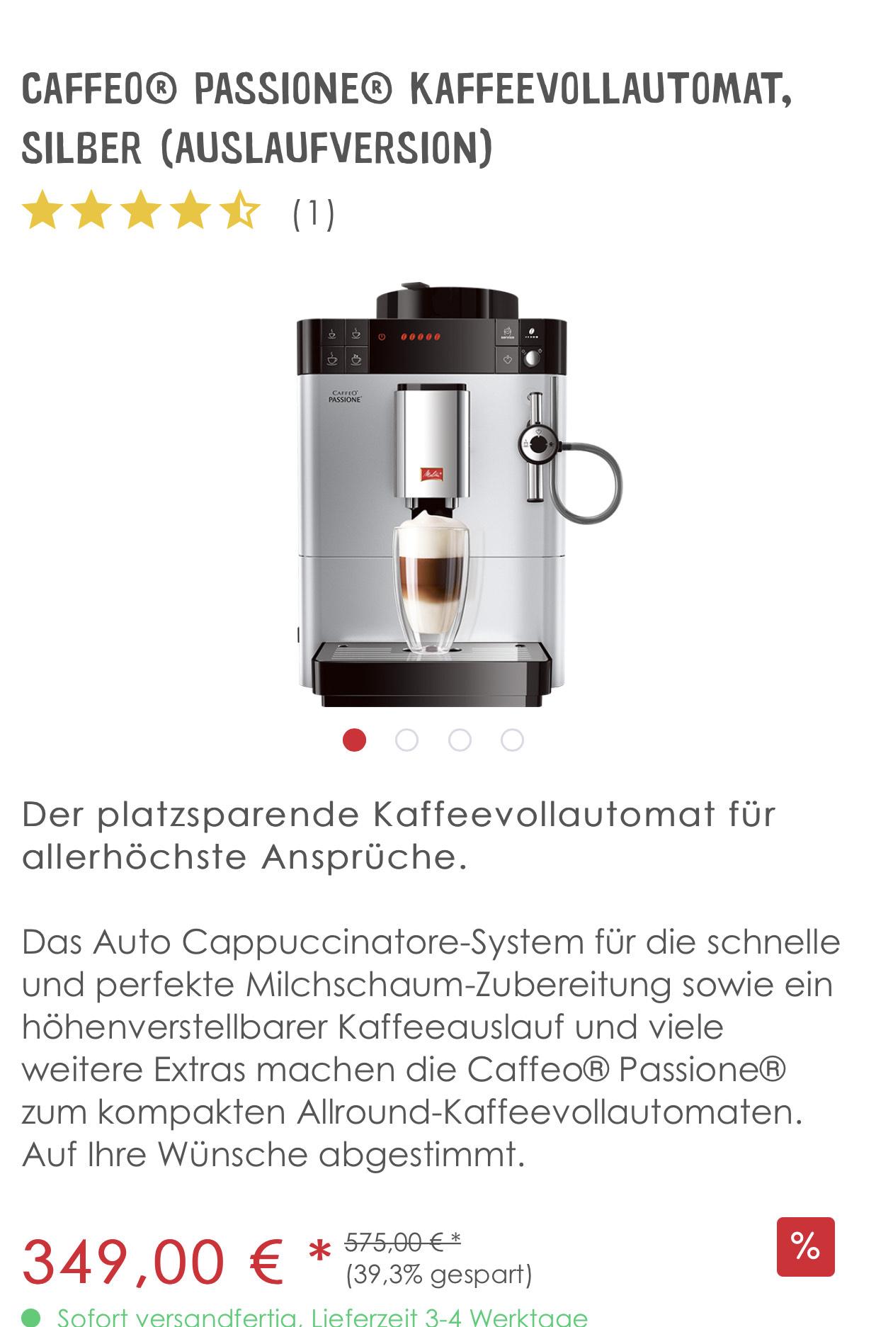 Caffeo® Passione® Kaffeevollautomat, silber (Auslaufversion)