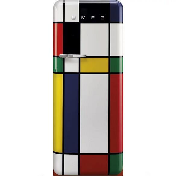 Smeg FAB28RDMC3 P. Mondrian Design Kühlschrank (A+++) 244 L Abtauautomatik und elektronische Temperaturregelung