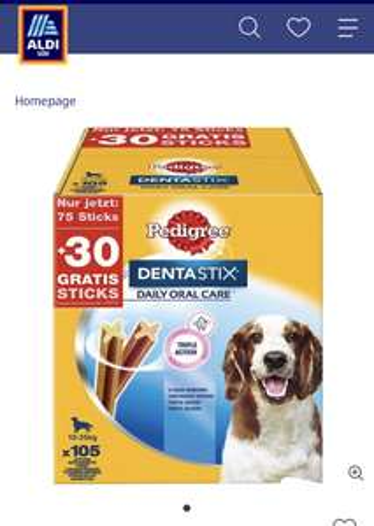 Pedigree® DentalStix 2,7 kg für 5,18 pro Kilo