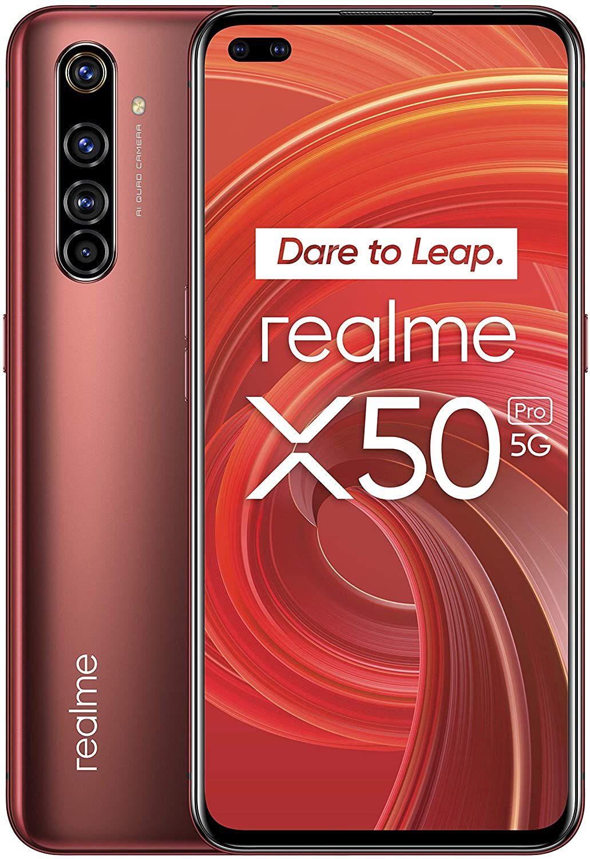 "Realme X50 Pro 5G 8GB/128GB 6,44"" FHD+ AMOLED (SnapD. 865, 4.200 mAh, 588K AnTuTu, 64 MP Quad-Cam, USB-C, NFC, HDR10+) // 256GB für 438,46€"