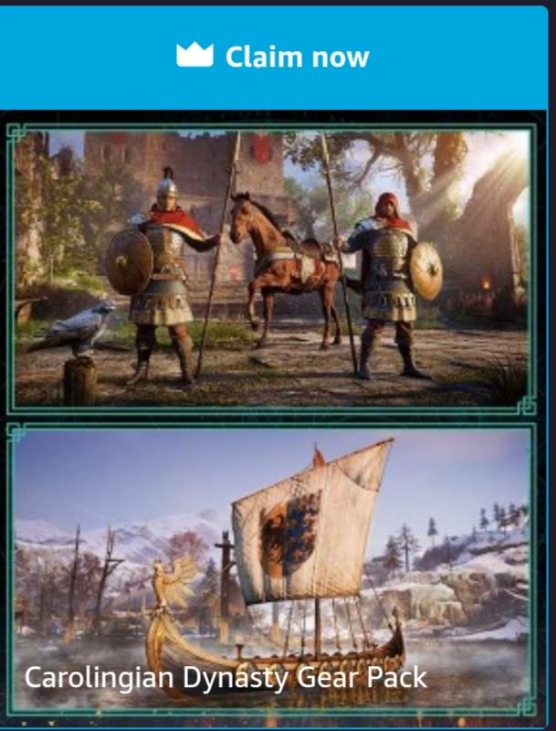 [Prime Gaming] Carolingian Dynasty Gear Pack für Assassin's Creed Valhalla