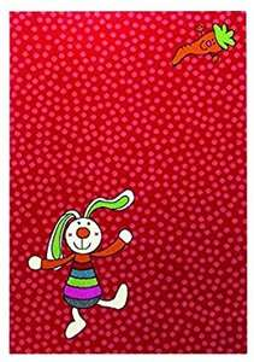 [Amazon] Sigikid Rainbow Rabbit Moderner Markenteppich, Polypropylen, Rot, 290 x 200 x 1.3 cm