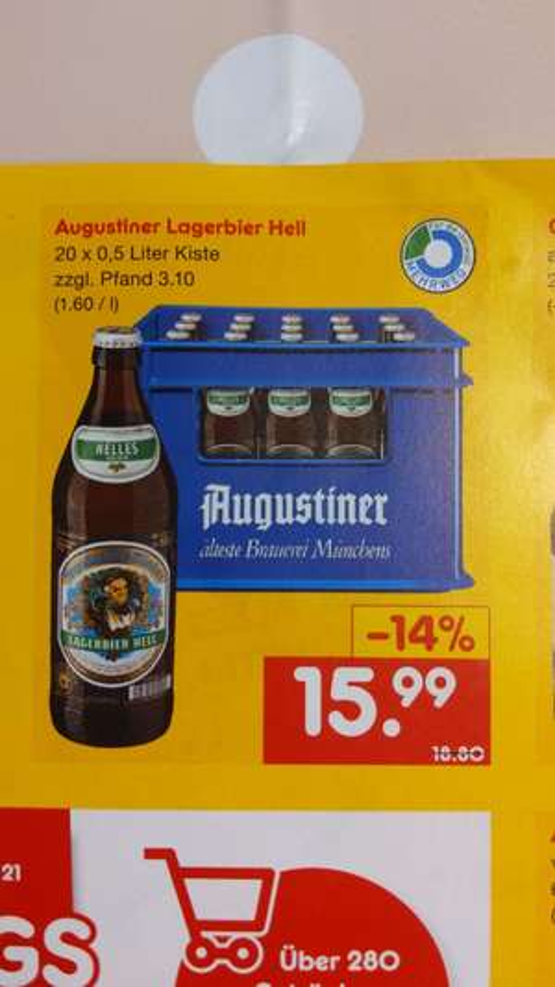[Netto Getränke-Discount - Lokal Berlin] Augustiner Lagerbier Hell