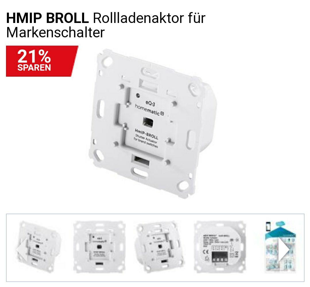 Homematic IP BROLL Rollladenaktor für Markenschalter 60,90€ inkl. VSK