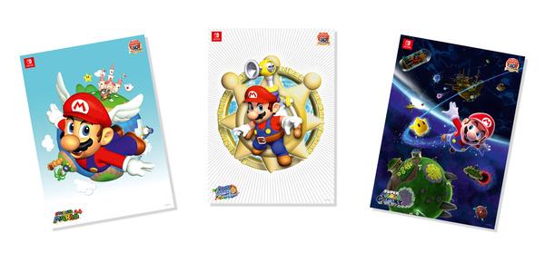 Wieder vorrätig: My Nintendo Super Mario 3D All-Stars-Poster-Set für 300 Platinpunkte + Versand 3,99 €