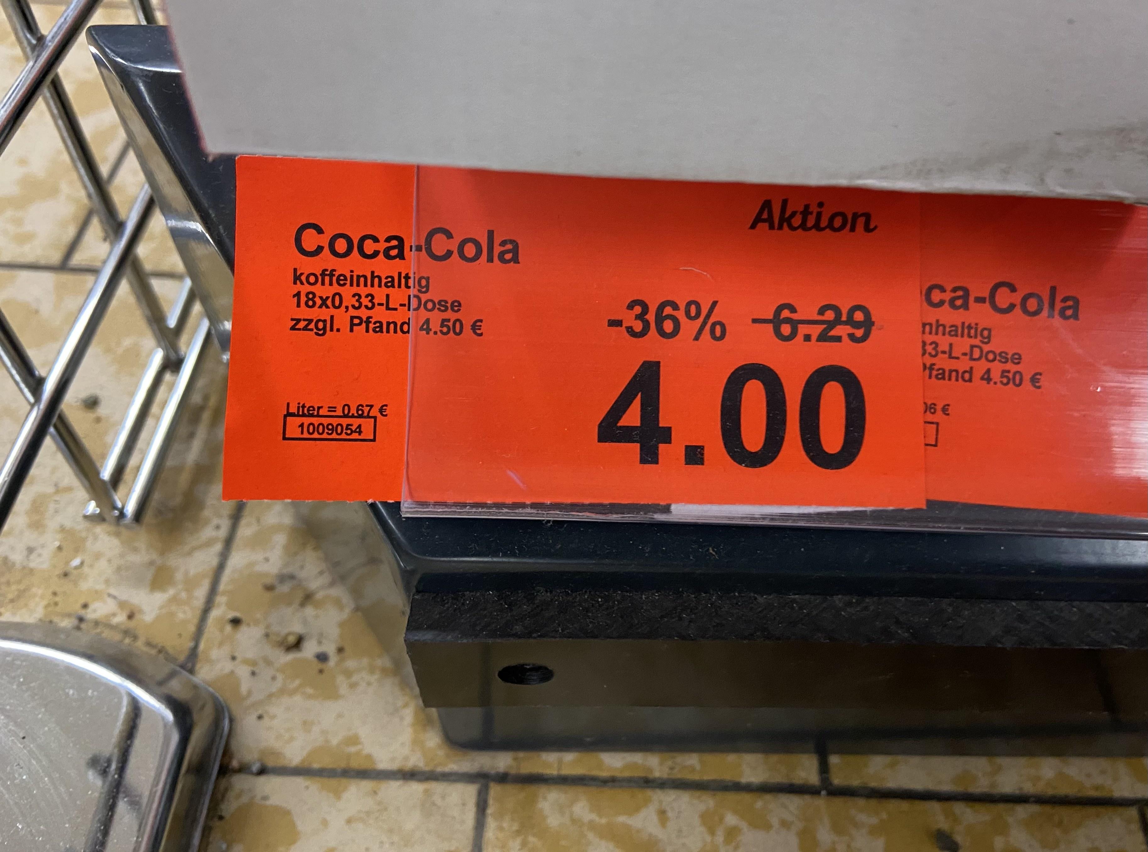 Aldi-Nord (Lokal) | Coca-Cola XXL-Pack 18x 0,33l Dose