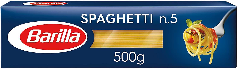 [Prime Sparabo] 5 x Barilla Hartweizen Pasta Spaghetti n. 5, 1er Pack (1 x 500 g)