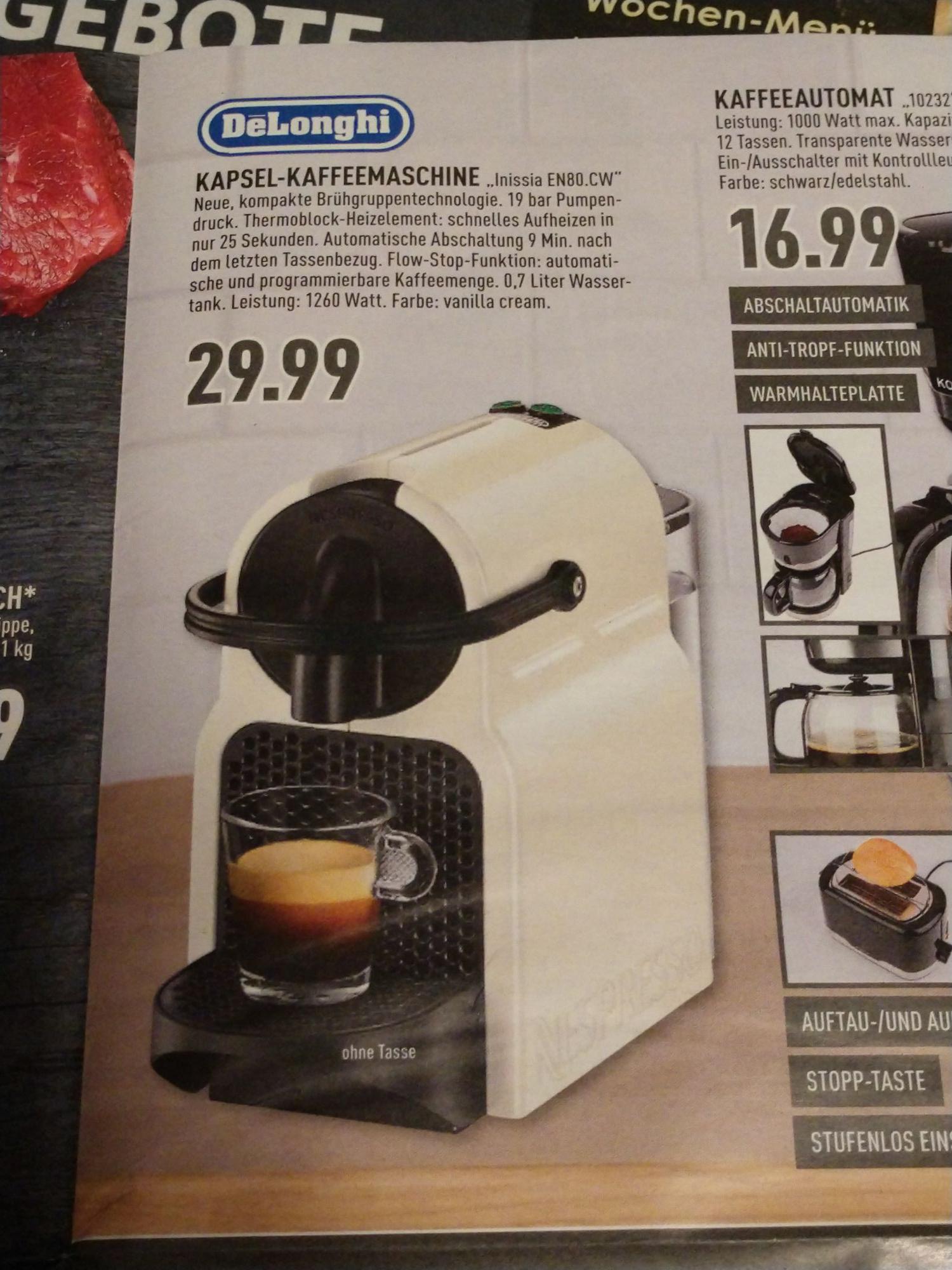 (Lokal Marktkauf Bielefeld, Gütersloh) Nespresso DeLonghi Inissia EN80.CW