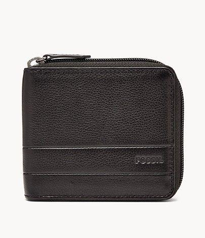 [Fossil] Herren Geldbörse Lufkin - Zip Bifold (schwarz)