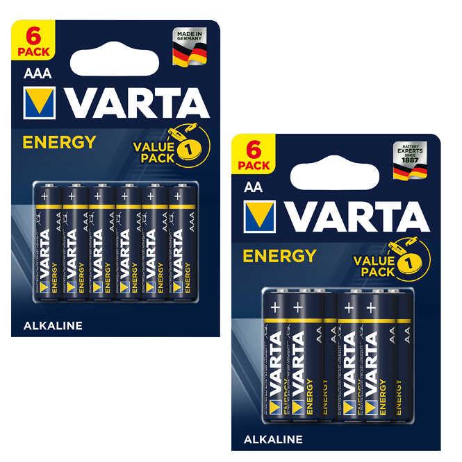 6x VARTA Energy Alkaline Batterien in AA oder AAA für 1€ [Kaufland]