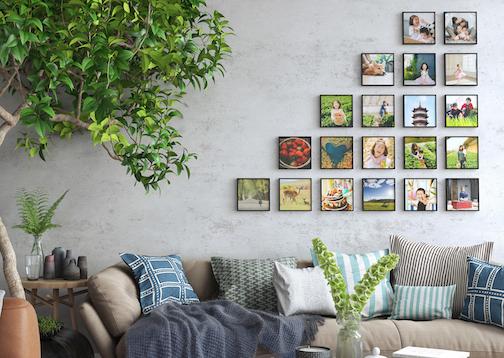 Mixtiles - Selbstklebende Bilder 20cmx20cm -- 16 Stück für 82€