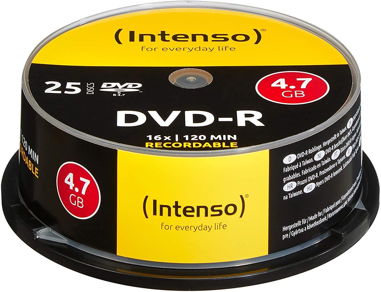 Intenso DVD-R Rohlinge 25er Spindel (4,7GB, 1x-16x) [Prime]
