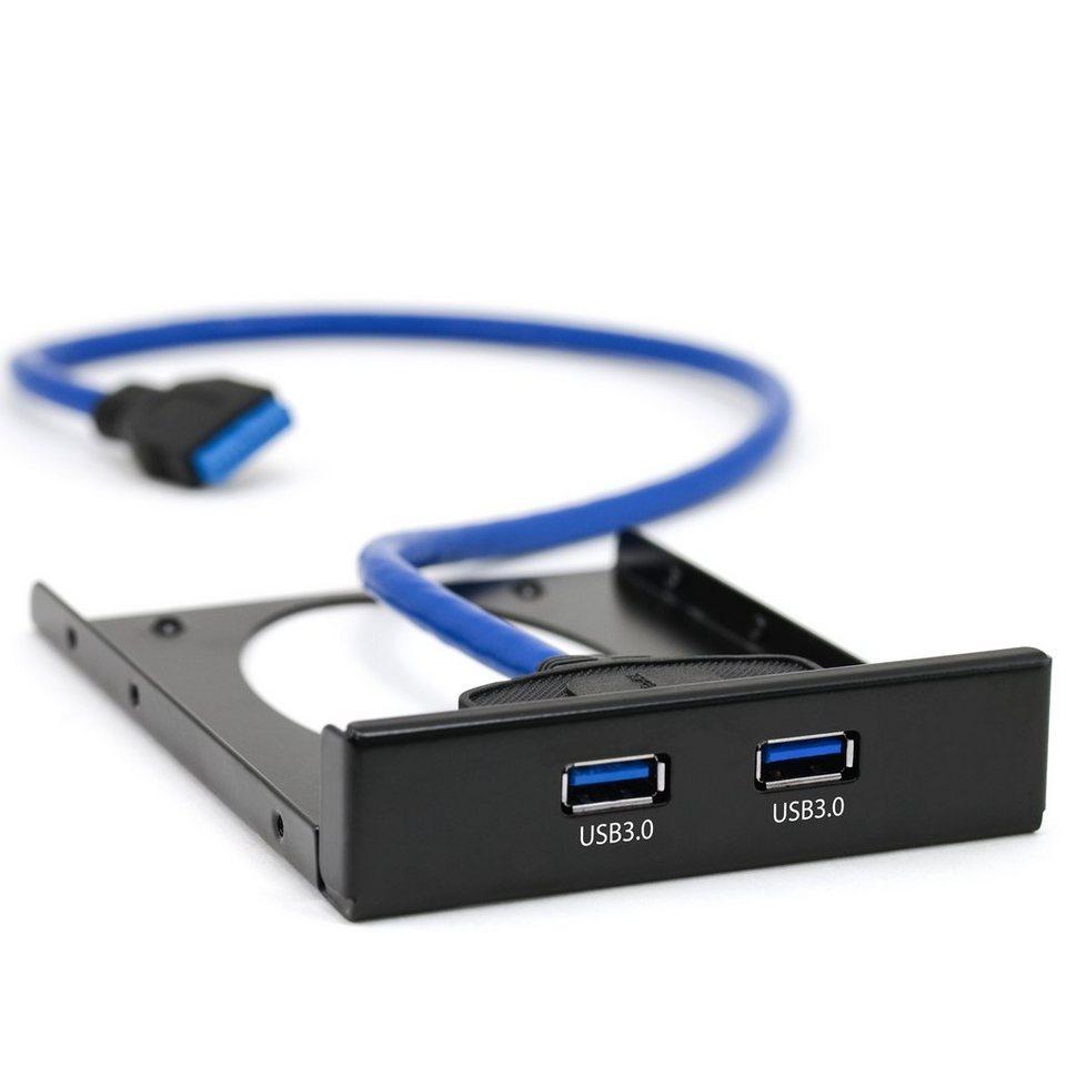 """CSL USB 3.0 2-Port Frontpanel für 3,5"""" Laufwerkschächte"""