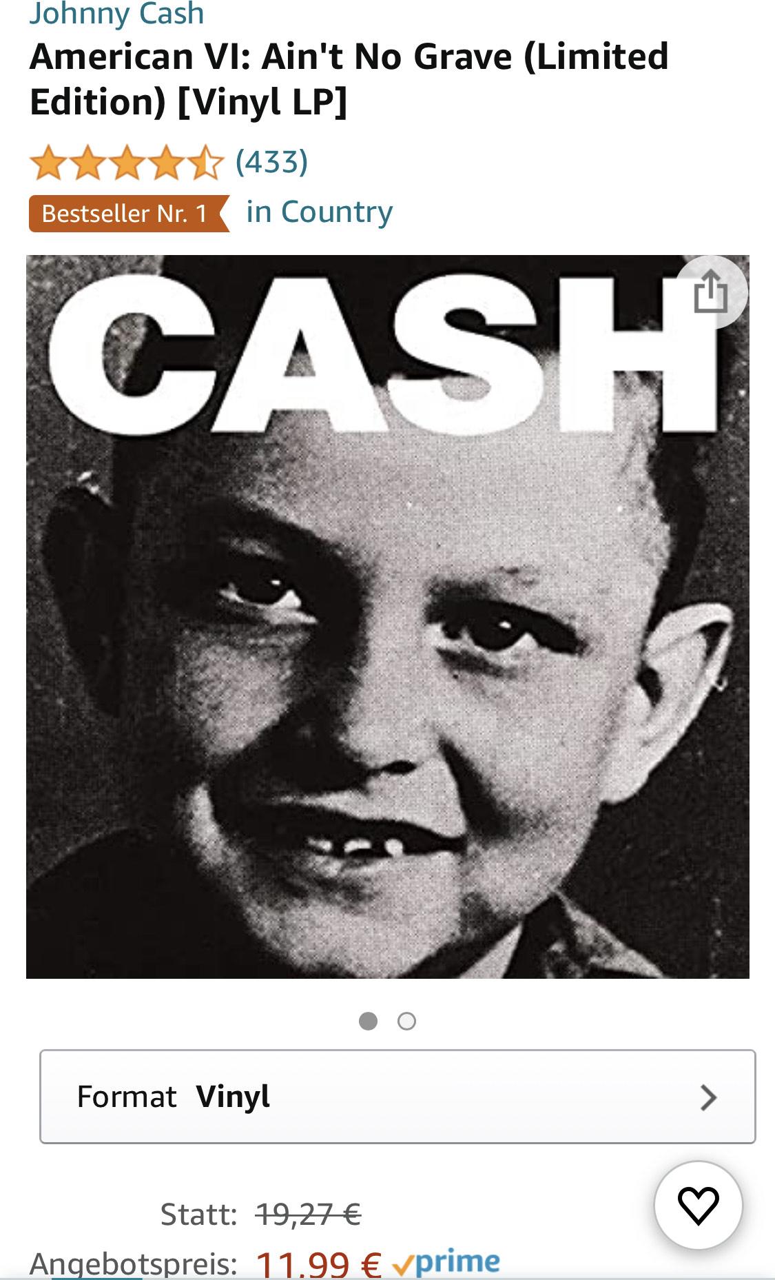 [PRIME DEAL] Johnny Cash - Ain't No Grave (Limited Edition) [Vinyl LP]