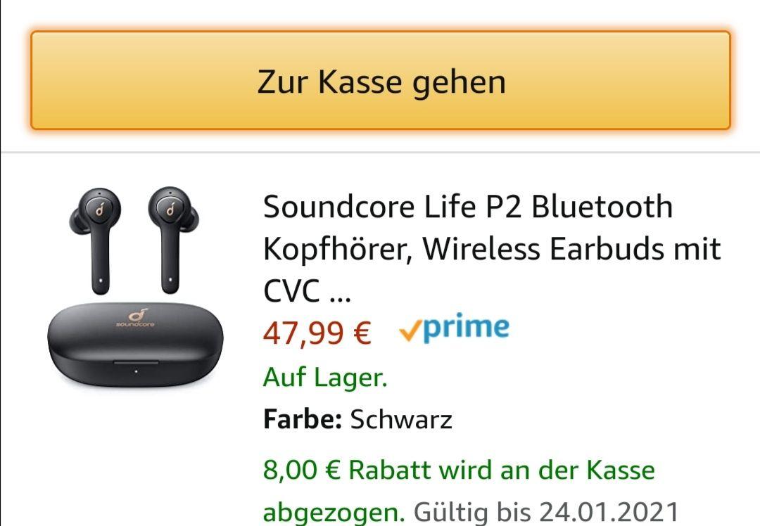 Soundcore Life P2 Bluetooth Kopfhörer Wireless Earbuds