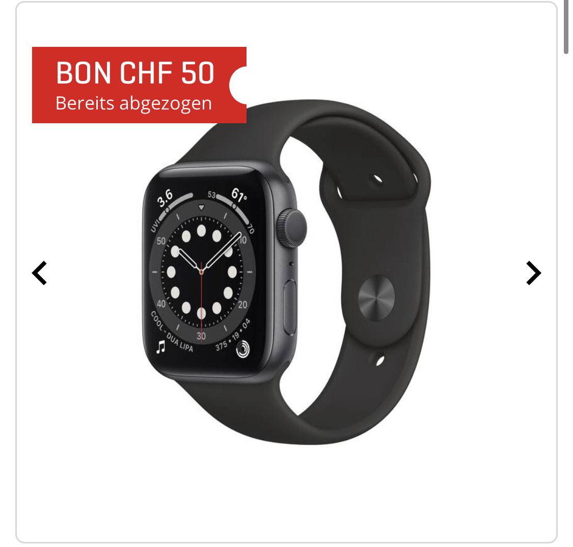 Apple Watch 6 44mm ab 377EUR aus der Schweiz