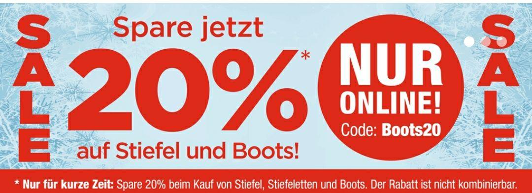 [RENO] 20% auf alle Boots, Stiefel und Stiefeletten, Versand kostenlos