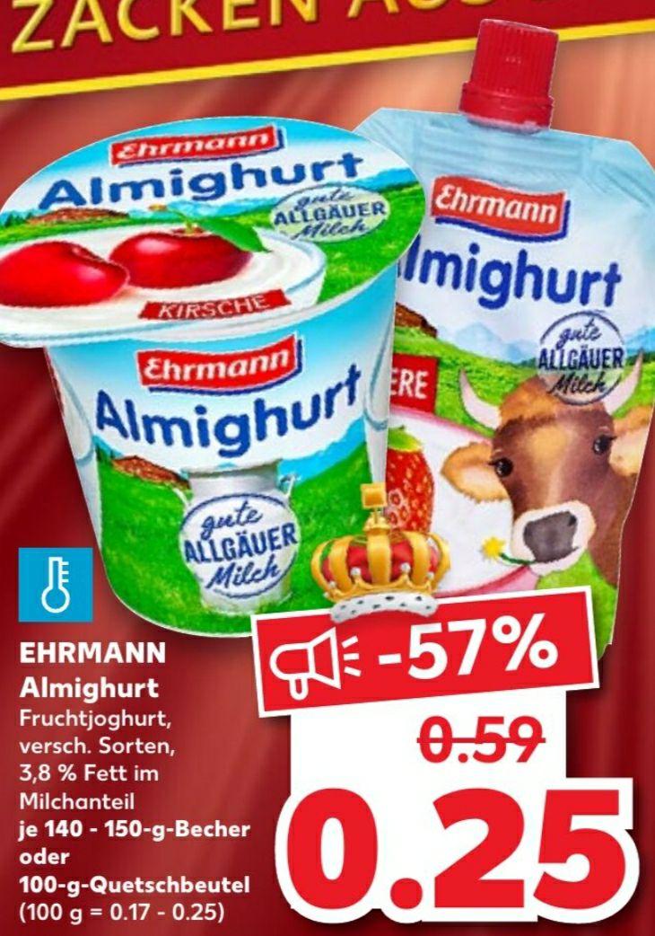Ehrmann Almighurt ab 28.01.2021 nur 0.25€