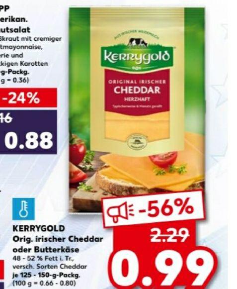 Kerrygold Cheddar 56% günstiger.