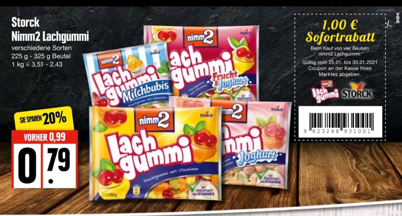 Edeka Nord, 4x Lachgummi für 2,16€ (0,54€/Stück) dank 1€ Coupon
