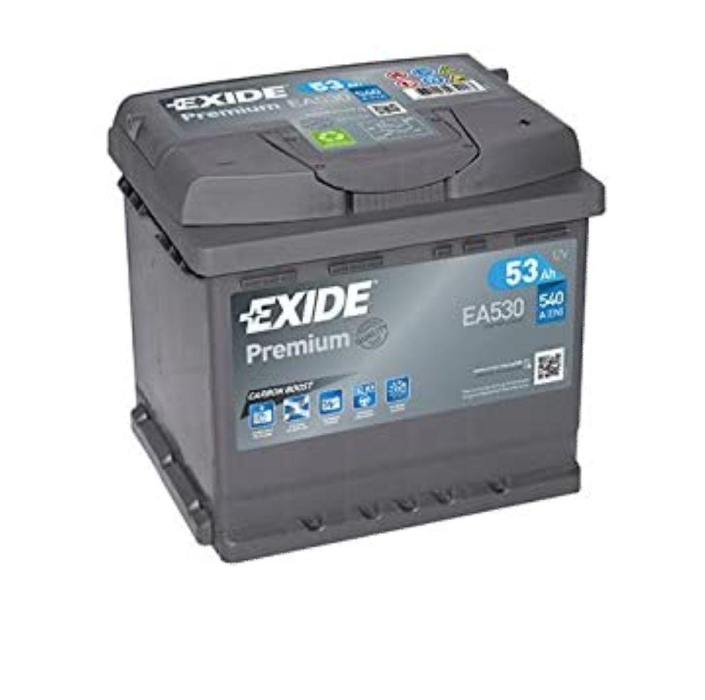 (Eff. 42,01€) Exide EA530 Premium Carbon Boost Autobatterie 12V 53Ah 540A