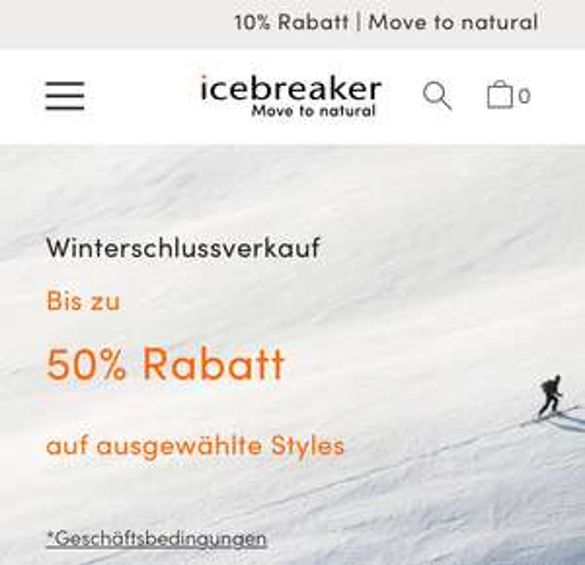 50% Icebreaker Merino Funktionskleidung Winterschlussverkauf