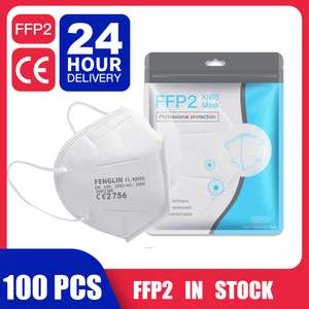 FENGLIN FL-KN95 FFP2 CE2756 100x Atemschutzmaske [Versand aus Polen]