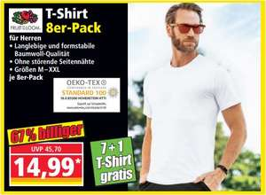 "T-Shirts ""Fruit of the Loom"", 8er - Pack für 14,99 Euro [ Norma ]"