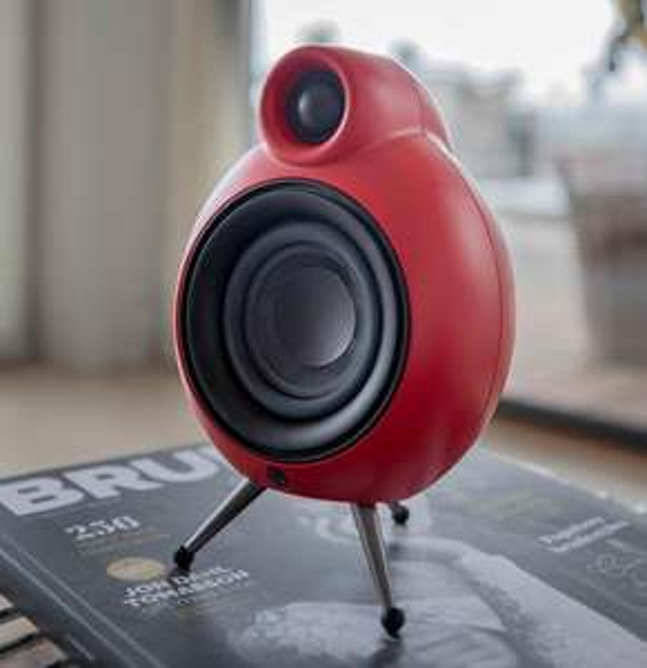 Hifi in Miniatur: Ein paar Micro Podspeaker MK II (rot) Hifi Lautsprecher