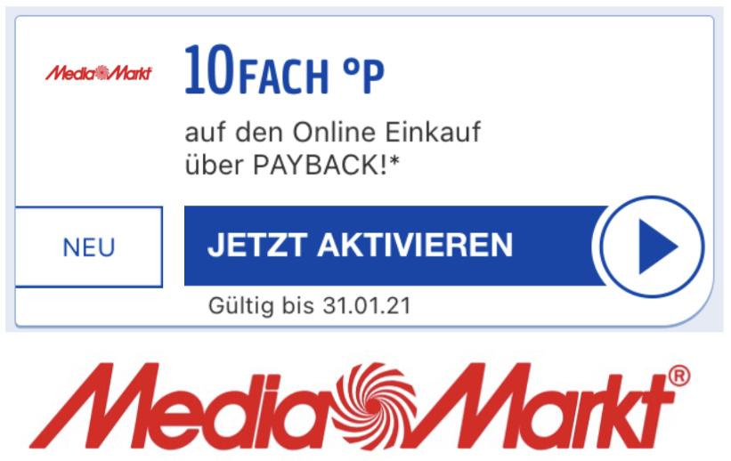10-fach Payback Punkte bei Media Markt (ggf. nicht für alle) - entspricht rd. 5% später auszahlbarem Cashback