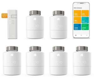 tado° Smartes Heizkörper-Thermostat Starter Kit V3+ mit 6 Thermostaten & Bridge